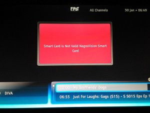 "Error Smart Card "" Smart Card is Not Valid NagraVision Smart Card"""